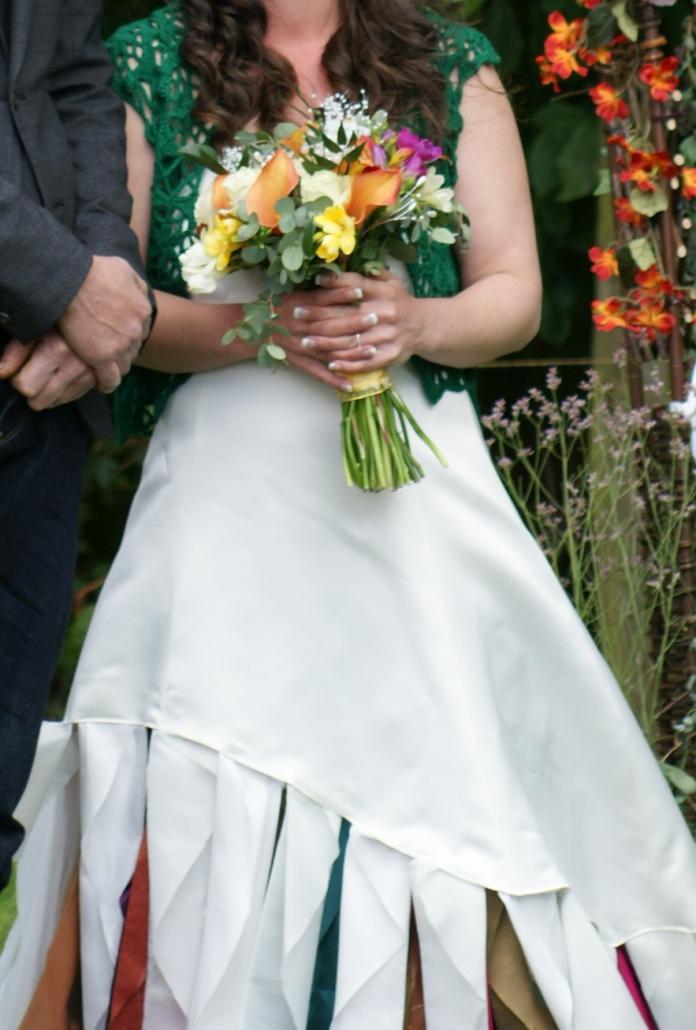 Boho Farm Wedding, Rebecca Waldron, Handfasting, Sand Unity, White Rose Ceremonies