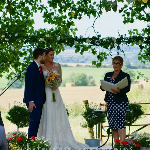Outdoor Wedding Ceremony, wedding ceremony, hay bales, celebrant, White Rose Ceremonies, Rebecca Waldron, creating memories, your perfect wedding ceremony