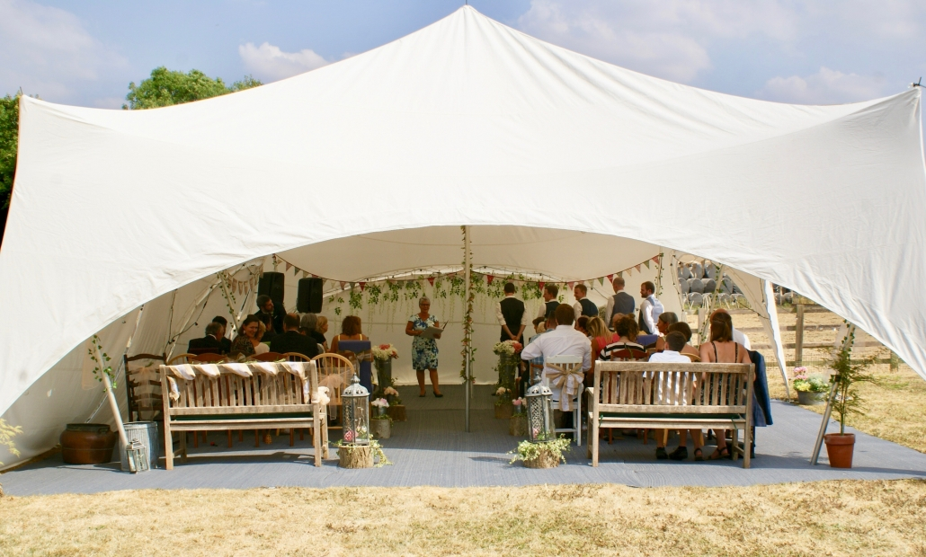 Perfect ceremony location at home