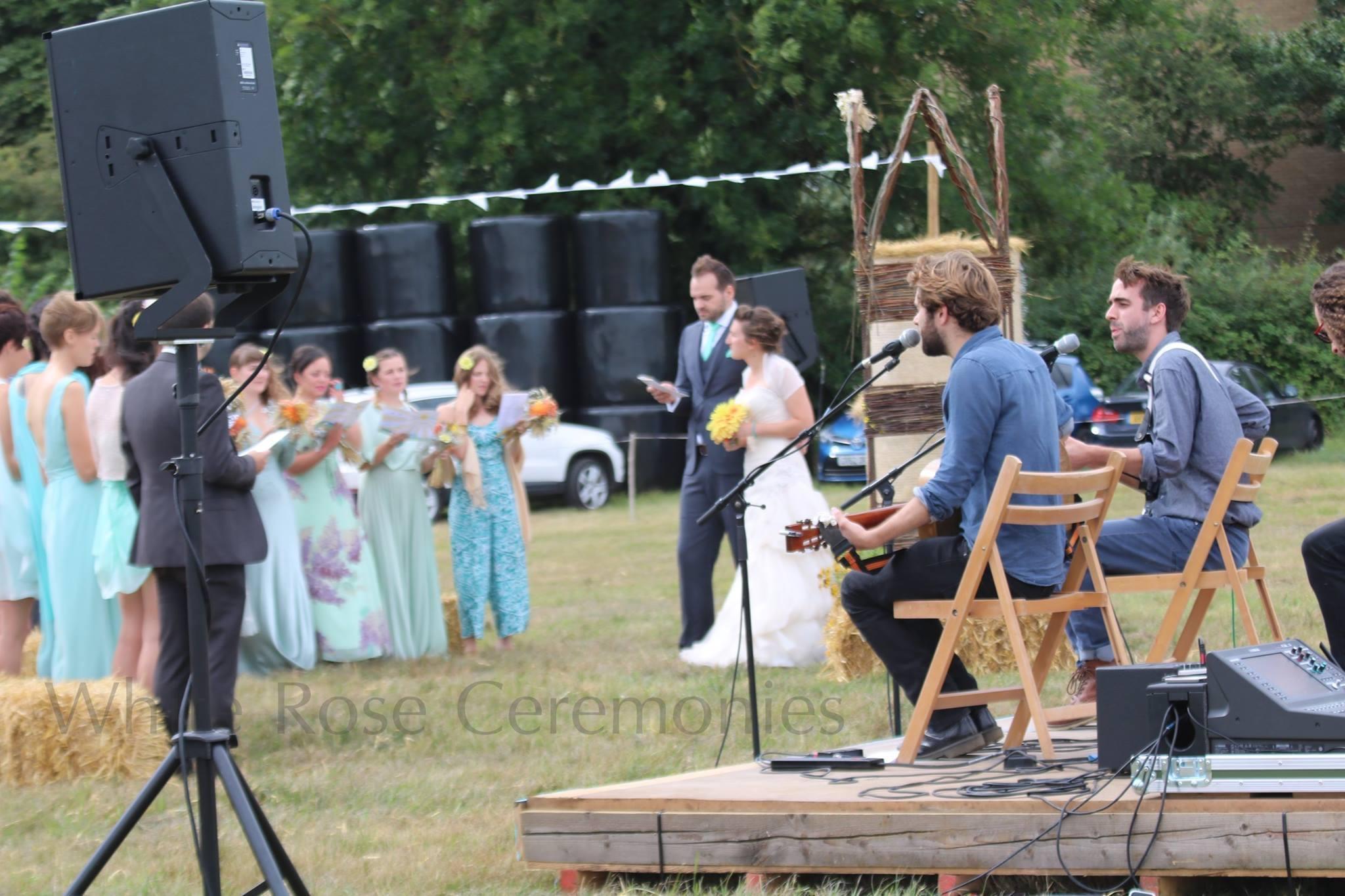Farm wedding White Rose Ceremonies