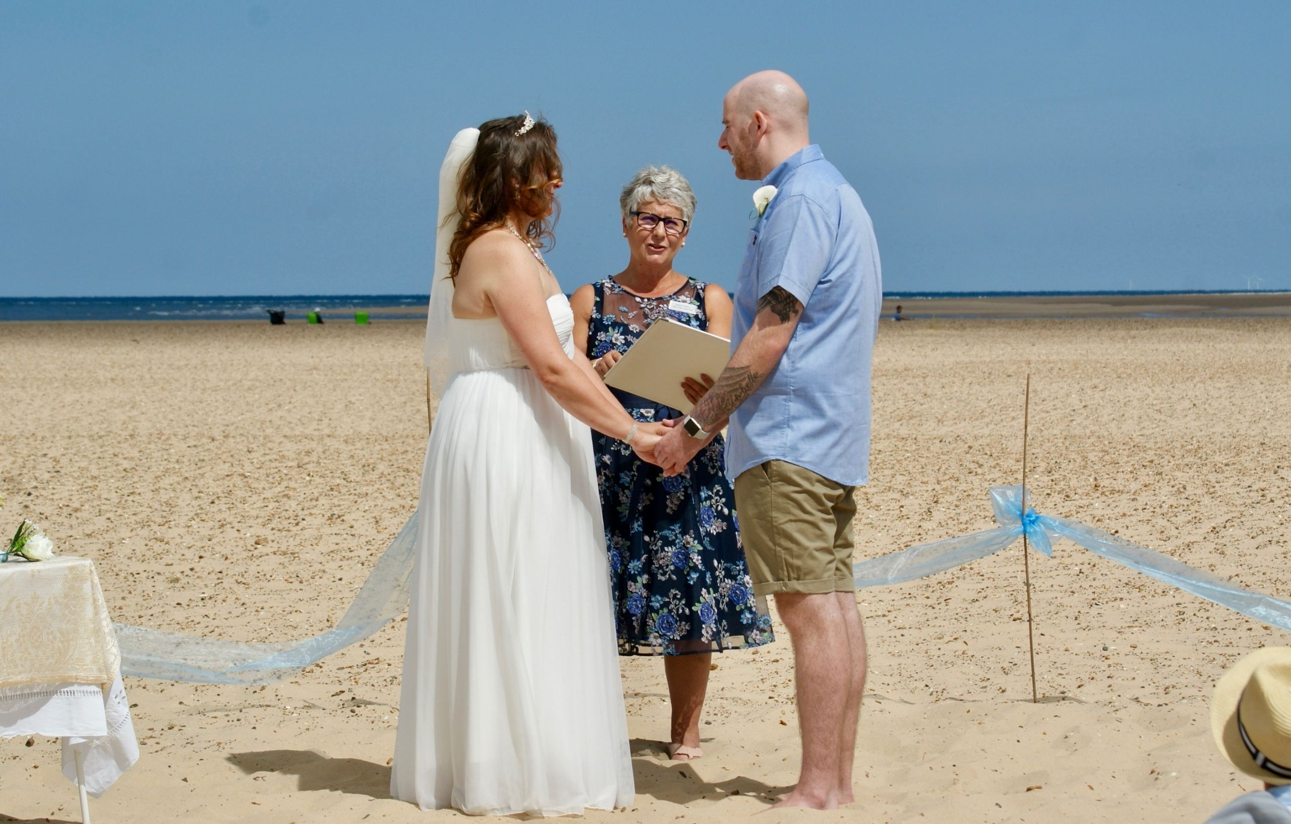 Perfect ceremony location on the beach White Rose Ceremonies