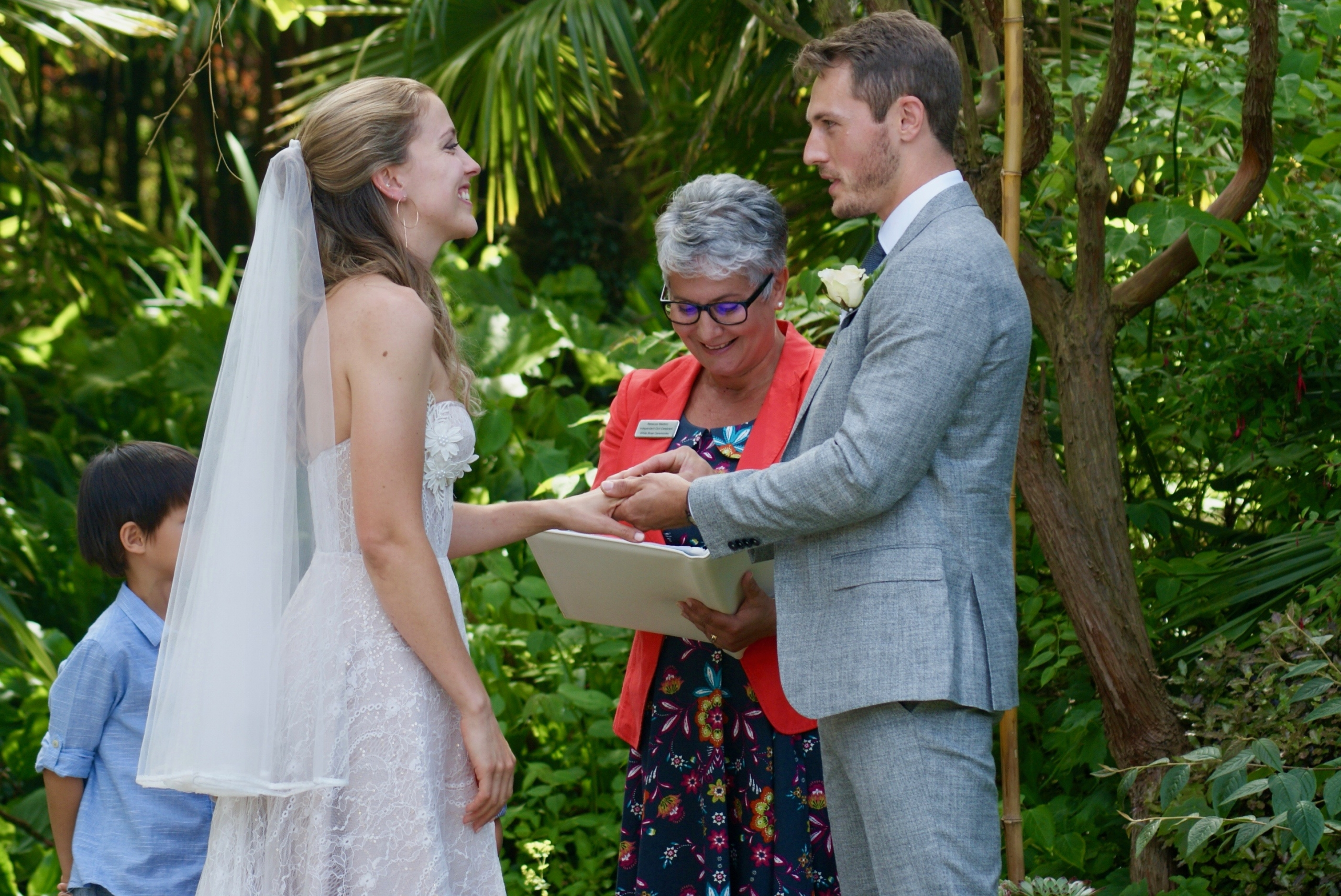 Perfect ceremony location Henstead Exotic Garden